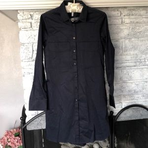 Topshop NWT Boutique Navy Shirt Dress Size US 2